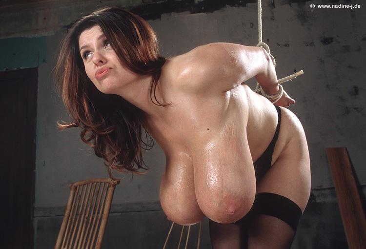 huge boobs naked bondage